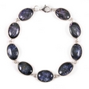 Silver and Derbyshire Blue John - 9 Stone Bracelet (Majestic)