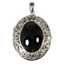 Silver Filigree/Hematite Locket