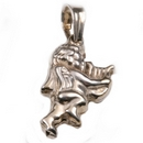 Silver Cherub with Lyre - Pendant and Chain