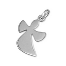 Silver Contemporary Angel - Pendant and Chain