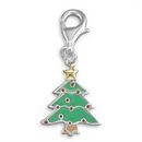 Charms - Silver / Enamelled Christmas Tree