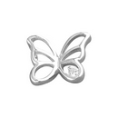 Pendants - Silver Butterfly / Single Cubic Zirconia