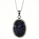 Silver / Blue John Pendant and Chain (Signature)