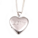 Silver Heart 'Love' - Locket and Chain