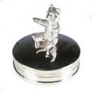 Gift - Silver Teddy Bear Box