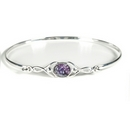 Silver / Blue John Celtic 'Wish' Bangle