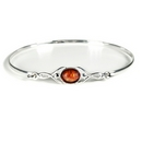 'Celtic Wish' Bangle with Amber