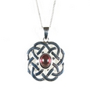 Silver 'Celtic Rose' (Pendant and Chain)