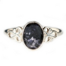 Blue John Ring - Silver Looped Shoulders