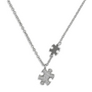Silver Jigsaw Chain (Necklace/Pendant)