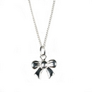 Silver Bow Pendant and Chain