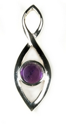 Silver / Amethyst 'Darcy' Pendant & Chain