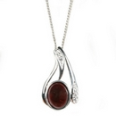 Silver / Garnet 'Bliss' Pendant and Chain