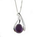 Silver / Amethyst 'Bliss' Pendant and Chain