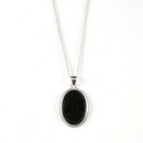 Silver / Onyx Pendant and Chain (Signature)