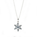 Silver Snowflake Pendant on Chain