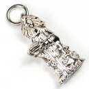 Silver Princess with Crystal in Bowl  Charm/Pendant