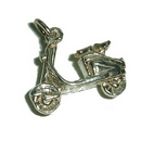 Silver Motor Scooter - Charm/Pendant