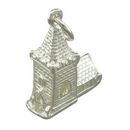 Silver Church - Charm/Pendant