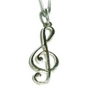 Silver Treble Clef (Pendant and Chain)