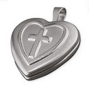 Silver Heart Locket (on Chain)