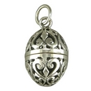 Silver Pomander Locket on Chain