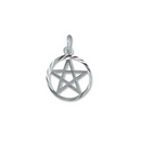 Silver Pentacle Pendant on Chain