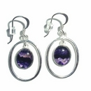 Silver 'Victoriana' / Blue John Earrings