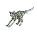 Brooch - Stretching Cat