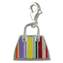 Silver / Coloured Enamel Handbag