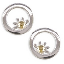 Earrings - Silver Daisy Circ Studs