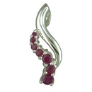Pendants - Silver Ruby Lazy Z