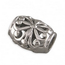 Charms - Silver Ornate Contemporary Lozenge