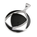 Pendants - Silver Onyx Triangle In Circle