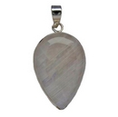 Pendants - Silver Mounted Large Teardrop Moonstone
