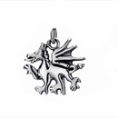 Silver Welsh Dragon Pendant