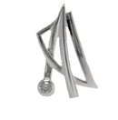 Pendants - Silver Contemporary Harp with CZ
